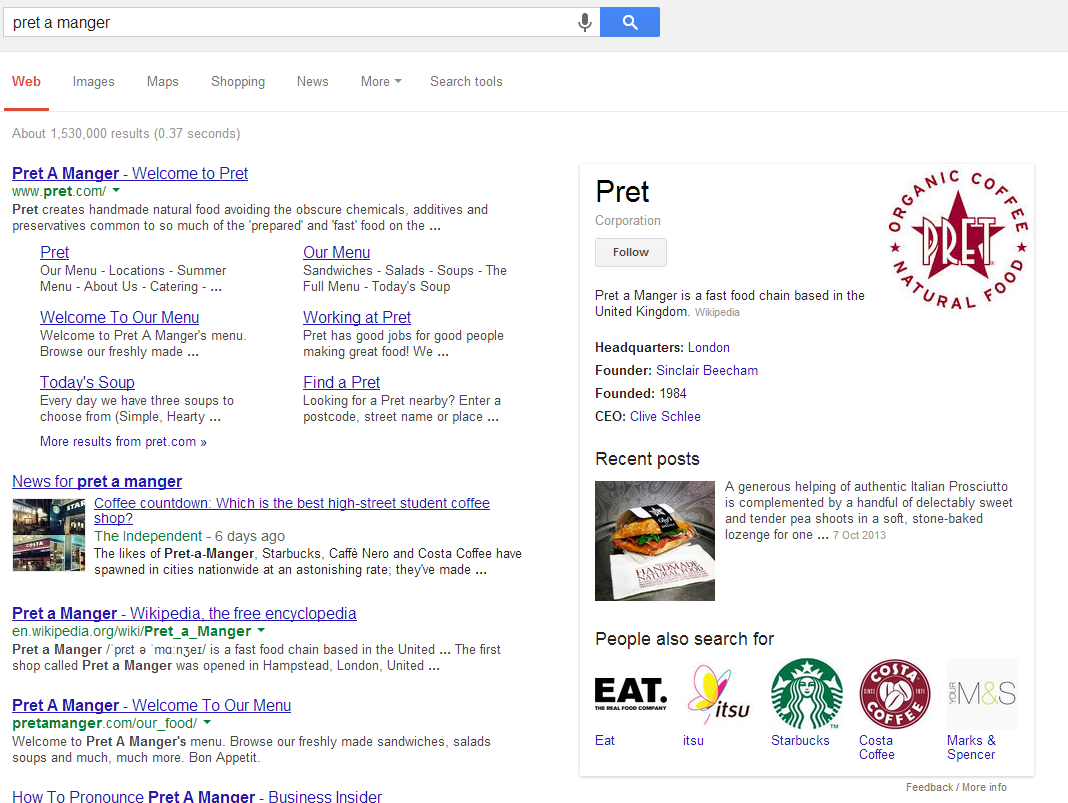 Pret a Manger example