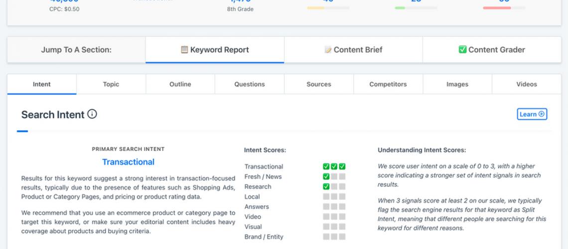 Content brief tools